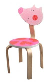 Krzesło do pokoju dziecka, świnka